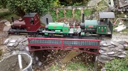 Testing the new replacement bridge with 3 rarely seenloco's from the museum