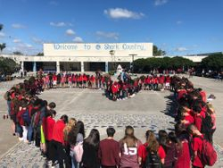 Students came together to show their support for Stoneman Douglas