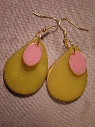 Pink and Peridot Teardrops