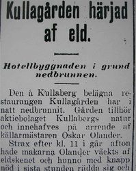 Hotell Kullagarden 1916