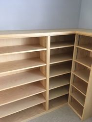 Bespoke bookshelves.