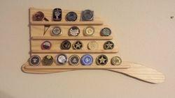 firefighter hat challenge coin display holder