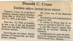 Crum, Donald C. 1995