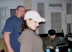 Rick Martin, Krissy & Gary setting up