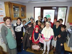 Senior pupils dress up as some of their favourite book characters