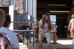 Marsha Judd demonstrates burnishing