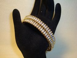 Double Tennis Bracelet (Design by Jill Wiseman)