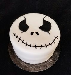 Jack Skellington Face Cake