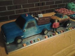 Truck and Trailer full of Junk Cake