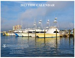 2013 Tide Calendar Cover