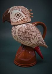 "Grey Parrot Jug 11"" tall"