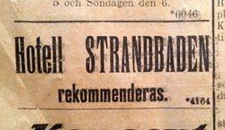 Hotell Strandbaden 1913