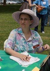 Sharon Kane Checking People In