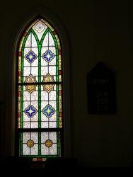 Window and hymn board