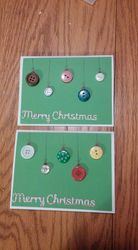 Button Holiday Card