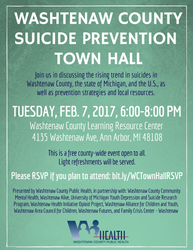 Townhall Meeting Suicide Prevention