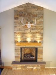 Virginia Ledgestone fireplace