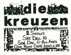 1988-12-10 Odd Rock Cafe, Milwaukee, WI