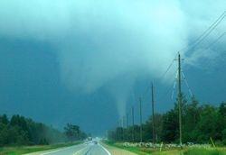 Tornado East of Arthur