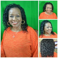 All back Tree braids using wet and wavy hair