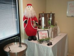 Santa helped at the beverage table;-)