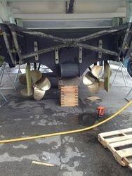 Port side bent shaft
