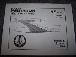 "Book Of Romulan Plans ""Bird of Prey"" Cruiser - Blueprints by Michael McMaster"