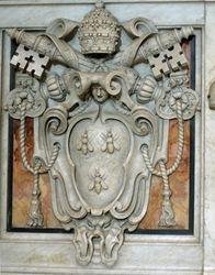 Bernini, Barberini coat of arms on the bases of the Baldacchino