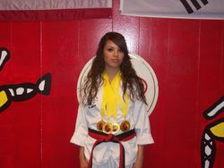 06-05-2011 Championship Natalie Nodarse 1st pl forms 1st pl breaking 1st pl weapons 1st pl fighting