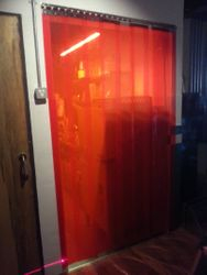 Red Tinted PVC Strip Curtain