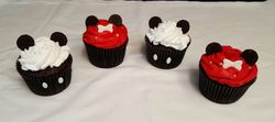 Minnie and Mickey Mouse Jumbo Cupcakes