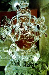 GANESH ICE SCULPTURE