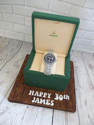 Rolex Watch Birthday Cake