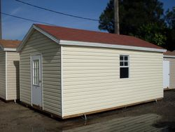 12 x 16 with eaves and colonial door