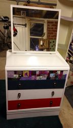 Upcycled chest of drawers with added mirror
