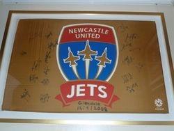 Jets Autographed Flag