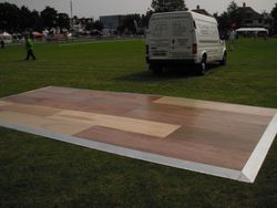 Wooden Dance Floor in Chalkwell Park for Armed Forces Day 2010