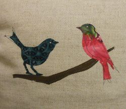 Bird Cushion - Reverse