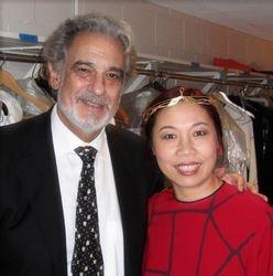 With maestro Placido Domingo