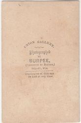 Burpee, photographer of Belot, WI - back