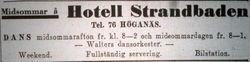 Hotell Strandbaden (Orestrand) 1935