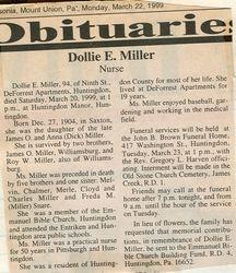 Miller, Dollie E. 1999