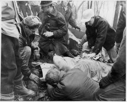 The body of Captain Goldsmith. Photo courtesy of the Williamsport Sun Gazette archive.