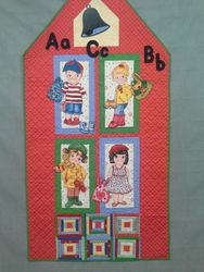 """'School Daze"""" Wall Hanging: Interactive for Real Play time!y"""
