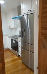 Installed stove and fridge