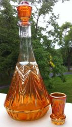 Rising Comet and Grooves decanter & cordial - Argentina