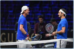Roger Federer and Tomas Berdych