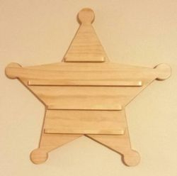 Sheriff Star Coin Display