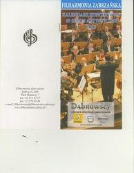Program booklet cover for concert in Zabrze, Poland