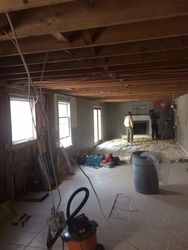 Ceiling down and walls removed